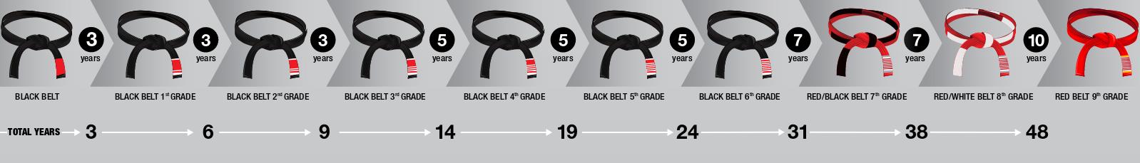 Degrés ceinture noire JJB